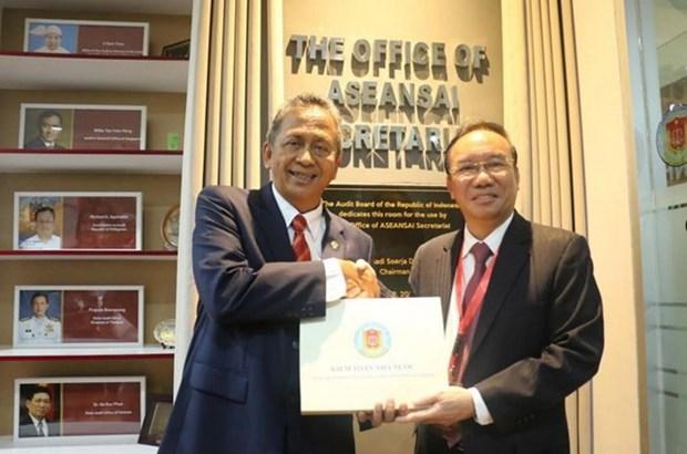 东盟最高审计机构秘书处办公室揭牌成立 hinh anh 2