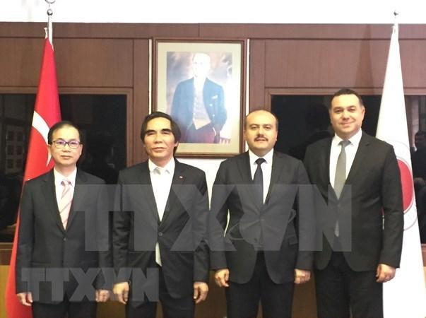越南计划与投资部和国会法律委员会代表团对土耳其进行工作访问 hinh anh 1