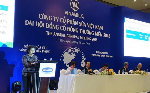 越南乳业股份公司力争实现2018年营业额达55.5万亿越盾的目标 hinh anh 2