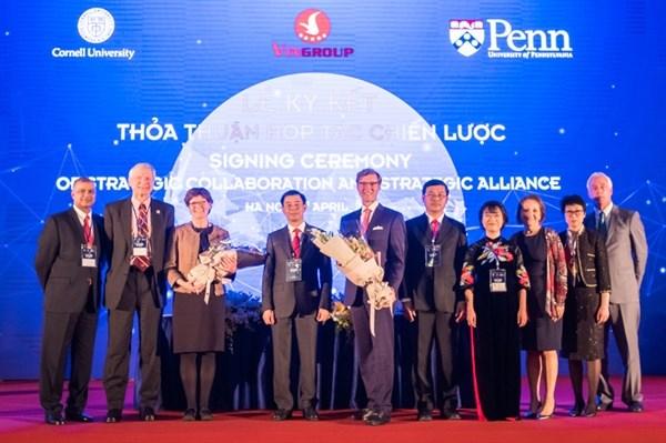 VinUni大学与美国合作努力成为世界名牌大学 hinh anh 1