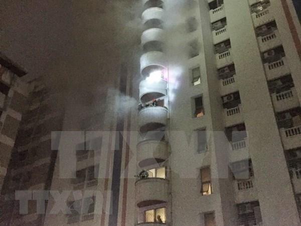 泰国曼谷公寓火灾:越籍伤者开始出院 第三名遇难者是泰国公民 hinh anh 1