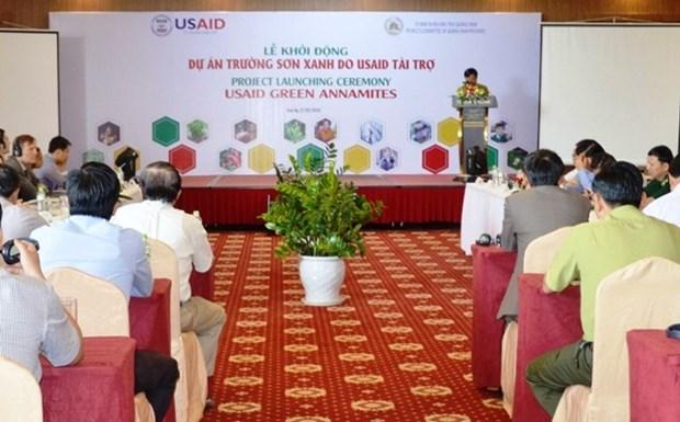 美国向广南省提供1400万美元的援助 用于实施绿色长山项目 hinh anh 1