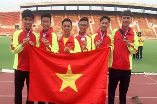 2018年东南亚青少年田径锦标赛:越南田径队位居第二 hinh anh 1