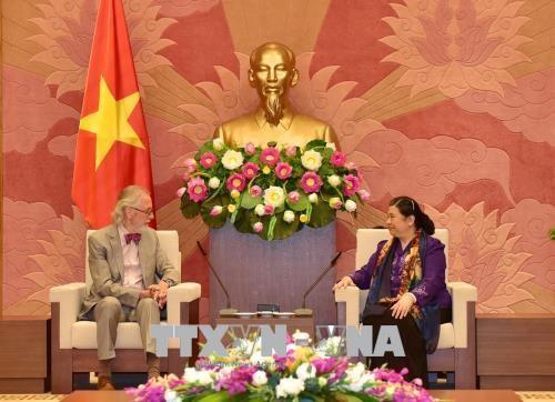 越南国会常务副主席丛氏放会见各国议会联盟前秘书长安德斯 hinh anh 1