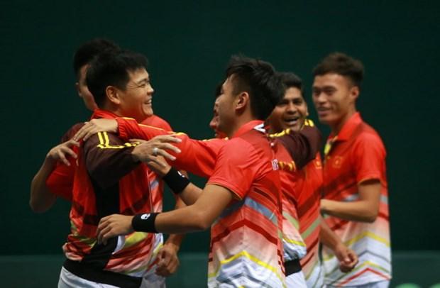 越南队获得参加2019年戴维斯杯亚大区第二层级的入场券 hinh anh 1