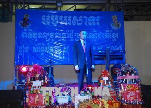 旅柬越南人喜迎柬埔寨传统节日 hinh anh 1