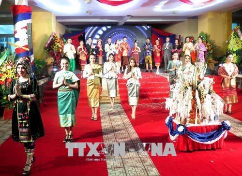 老挝留学生欢度老挝传统新年 hinh anh 1