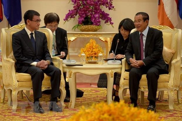 日本与柬埔寨加强双边合作 hinh anh 1
