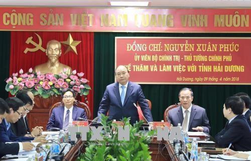 政府总理阮春福:充分发挥海阳省的优势 hinh anh 1