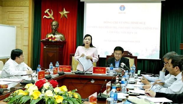 王廷惠副总理:扩大集中招标药品目录范围维护广大人民权益 hinh anh 2