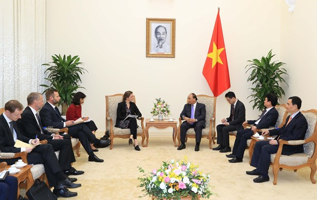 越南政府总理阮春福会见丹麦卫生部部长 hinh anh 2