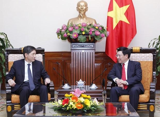 越南政府副总理兼外长范平明会见韩国驻越大使李赫 hinh anh 2