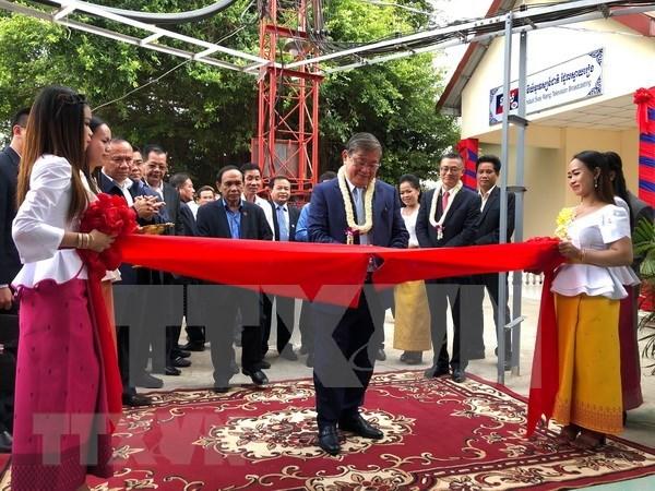 越南援建柬埔寨柴桢省电视发射台正式落成 hinh anh 1