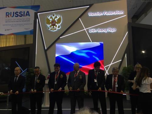 俄罗斯国家馆展览会在河内国际展览中心正式开幕 hinh anh 1