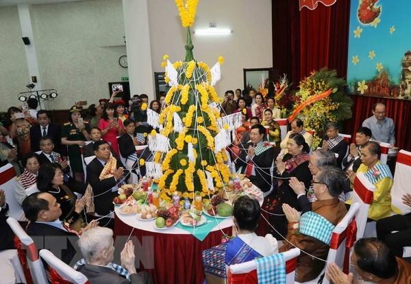 老挝驻越南大使馆在首都河内举行老挝传统新年庆祝活动 hinh anh 1