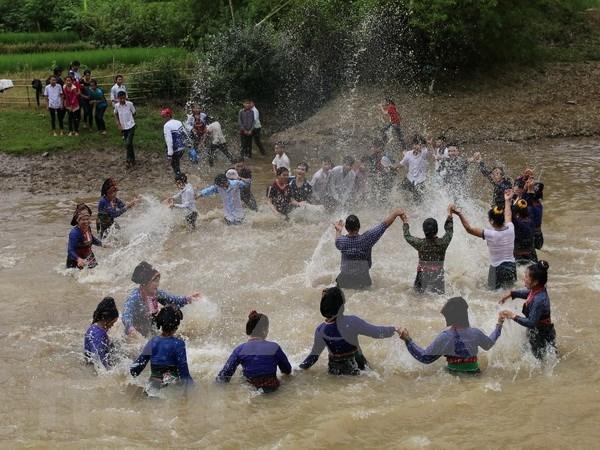奠边省佬族泼水节被列入国家级非物质文化遗产名录 hinh anh 1