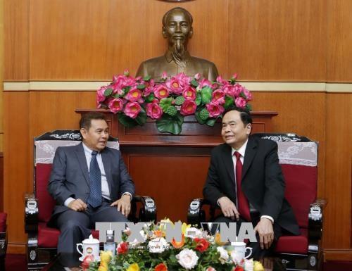 深化越南祖国阵线与老挝建国阵线的关系 hinh anh 2