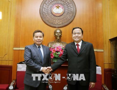 深化越南祖国阵线与老挝建国阵线的关系 hinh anh 1