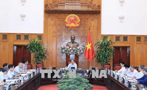 越南政府总理阮春福主持越南与欧盟贸易合作会议 hinh anh 1
