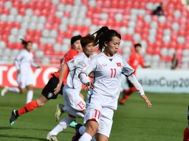 越南女足止步女足亚洲杯小组赛回国 受叙利亚形势影响飞机被迫调整航线 hinh anh 1