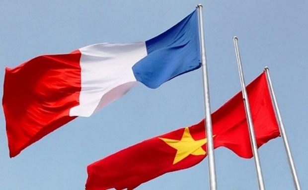 越南与法国建交45周年纪念典礼在芹苴市举行 hinh anh 1