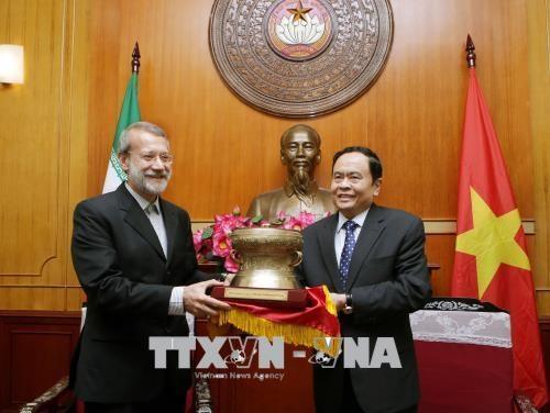 越南祖国阵线中央委员会主席陈清敏会见伊朗伊斯兰共和国议会议长阿里•拉里贾尼 hinh anh 1