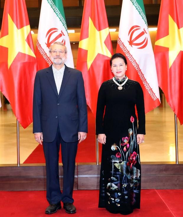 越南国会主席与伊朗伊斯兰议会议长举行会谈 hinh anh 1