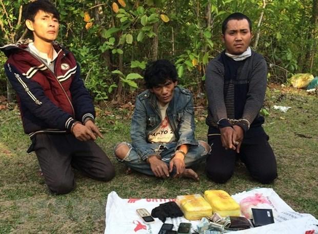 广平省:逮捕非法运输毒品进入越南境内的三名老挝籍疑犯 hinh anh 1