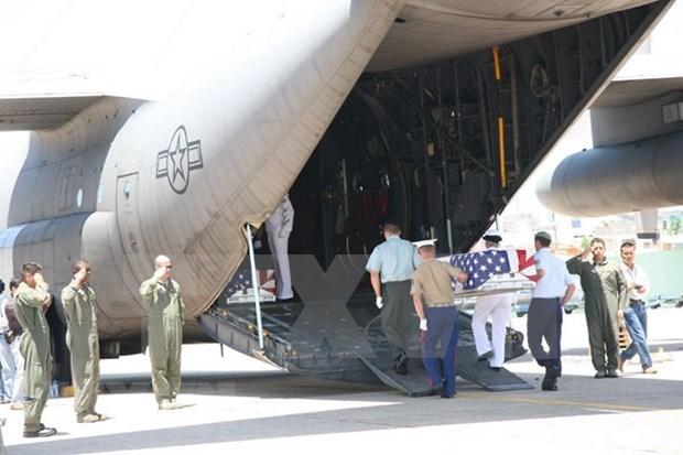 越南战争失踪的美国军人遗骸归国仪式在岘港举行 hinh anh 1