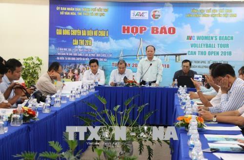 2018年亚洲女子沙排赛即将在芹苴市举行 hinh anh 1