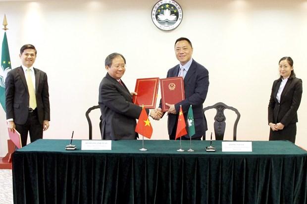 澳门特别行政区与越南签署避免双重征税协定 hinh anh 1