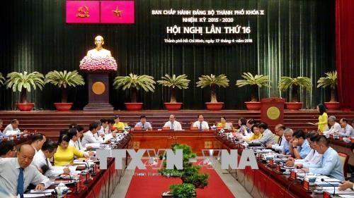 越南共产党胡志明市第十届委员会第十六次会议召开 hinh anh 1