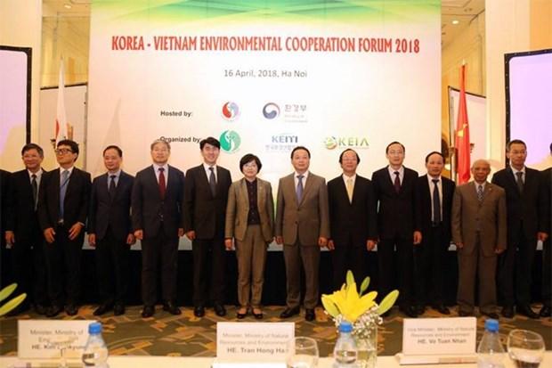 越南与韩国加强环保领域的全面合作 hinh anh 1