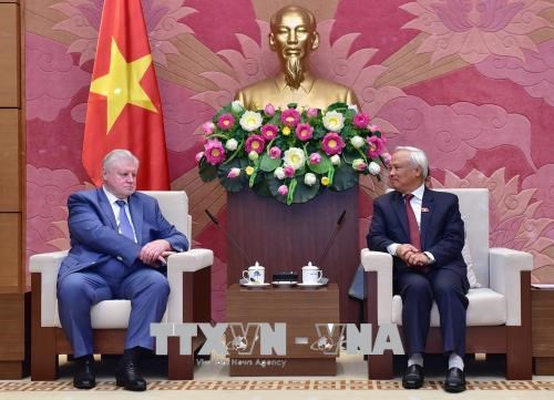 越南国会副主席汪周刘会见公正俄罗斯党议员小组主席 hinh anh 1
