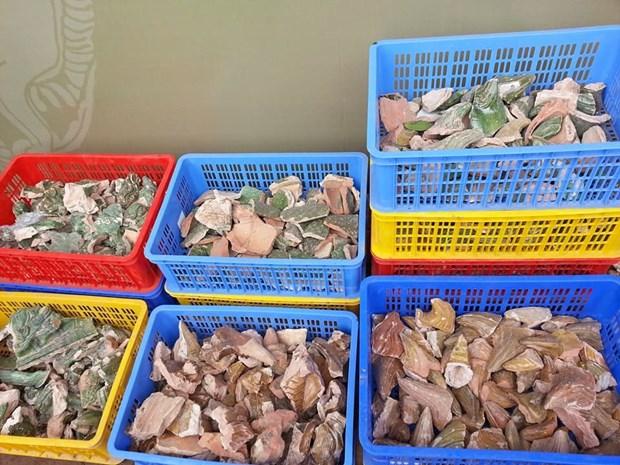 越南考古专家在升龙皇城敬天殿正殿发现宝贵线索 hinh anh 2