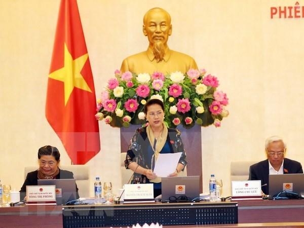越南国会常务委员会第23次会议落下帷幕 hinh anh 1