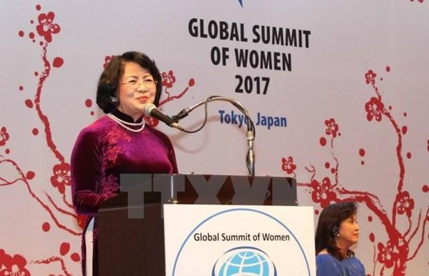 越南国家副主席邓氏玉盛将率团出席全球妇女峰会 hinh anh 1