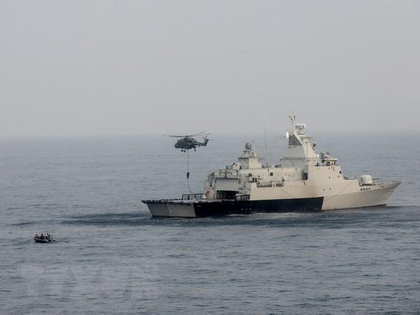 各国海岸警卫力量携手打击在东海非法捕鱼的行为 hinh anh 1