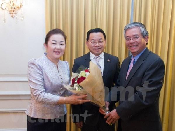 越南驻美大使馆加强与东盟各国驻美大使馆之间的协作与配合 hinh anh 1