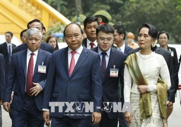 缅甸国务资政昂山素季圆满结束对越南进行的正式访问 hinh anh 2