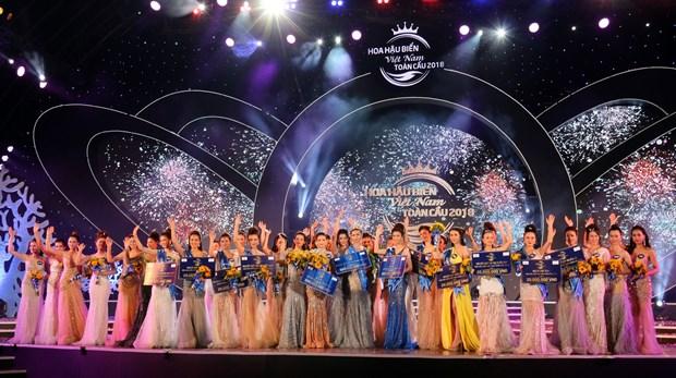 佳丽阮氏金玉摘下2018年越南全球海洋小姐选美大赛后冠 hinh anh 1