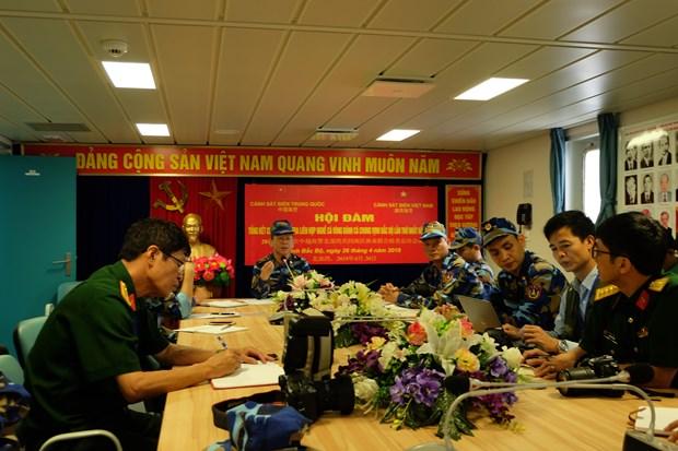 越中开展2018年首次北部湾共同渔区海上联合检查行动 hinh anh 3