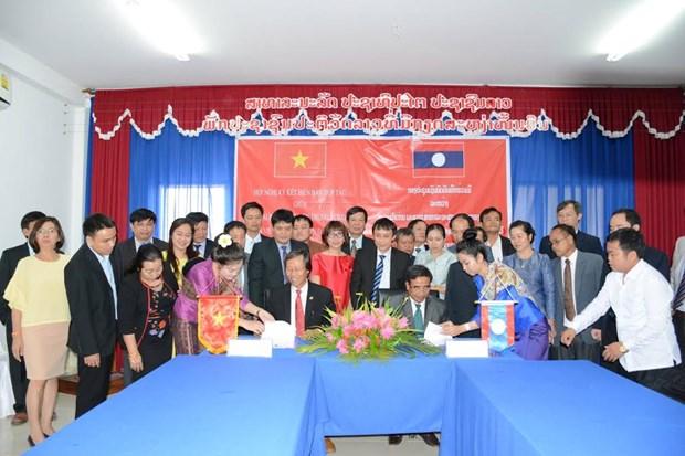 顺化中央医院与老挝南部和中部各省加强卫生合作 hinh anh 2