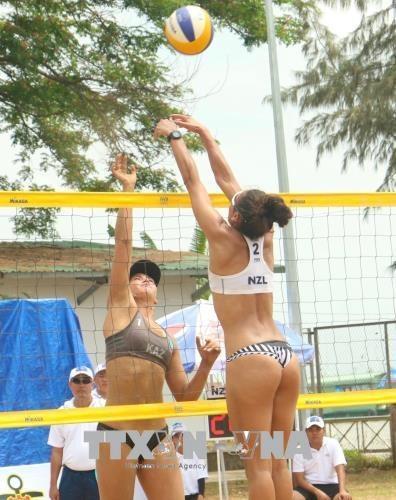 2018年亚洲女子沙滩排球比赛在芹苴市正式开赛 hinh anh 2