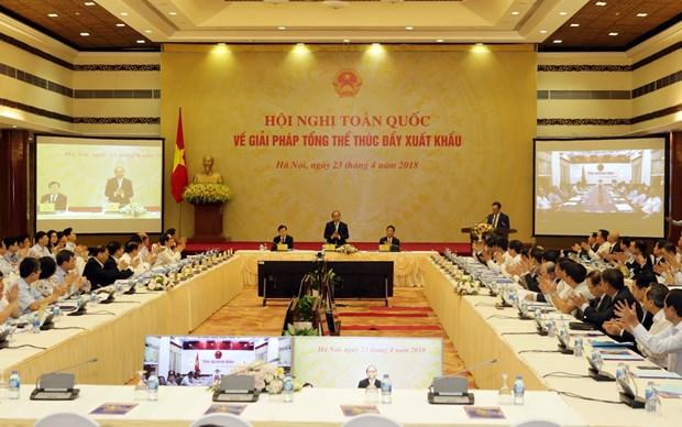 阮春福总理:改变进出口的战略思维模式 促进出口活动 hinh anh 1