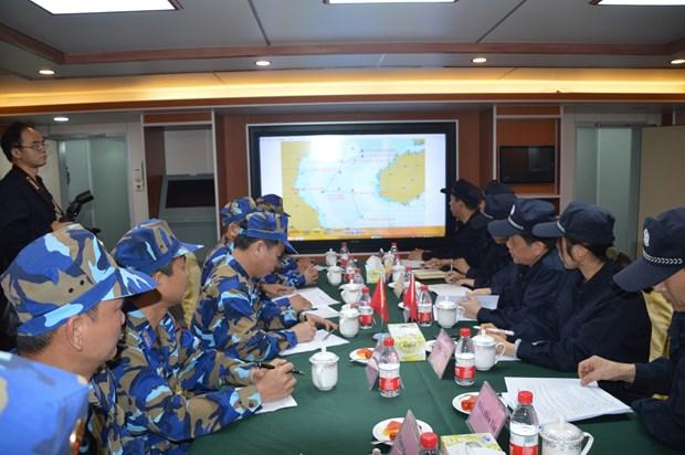 越中海警举行北部湾共同渔区海上会晤 hinh anh 1