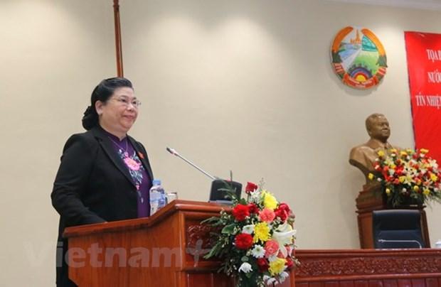 越南与老挝分享关于信任投票工作的经验 hinh anh 1