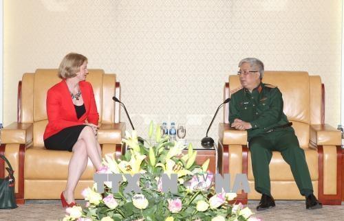 越南国防部副部阮志咏会见新西兰驻越南大使温迪马修斯 hinh anh 1