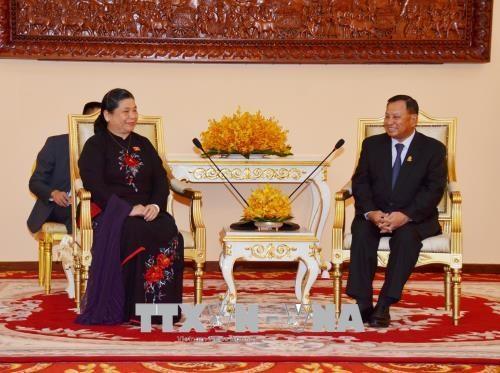 柬埔寨高级领导人高度评价与越南的合作 hinh anh 3