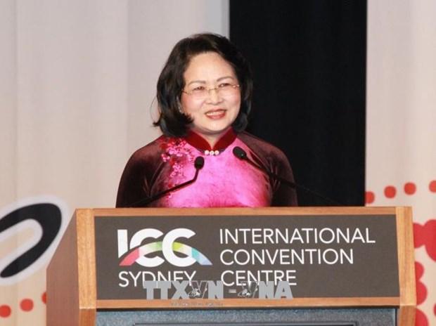 邓氏玉盛在2018年全球妇女峰会开幕式上发表重要讲话 hinh anh 1